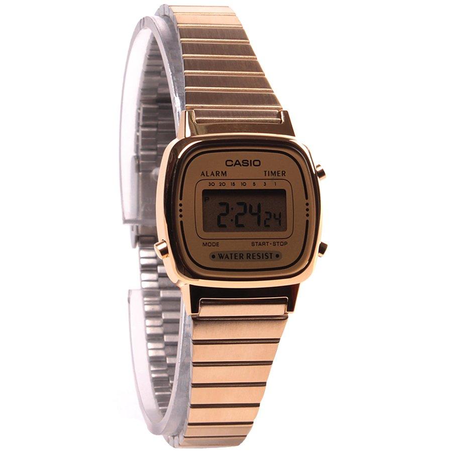 db1f10699fb Relógio Casio Vintage LA670-WGA-9DF Dourado Prata - Rock City