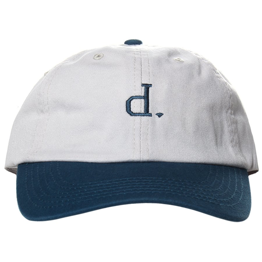 a8eeb6b546e Boné Diamond Micro Un Polo Dad Hat Cinza Azul - Rock City