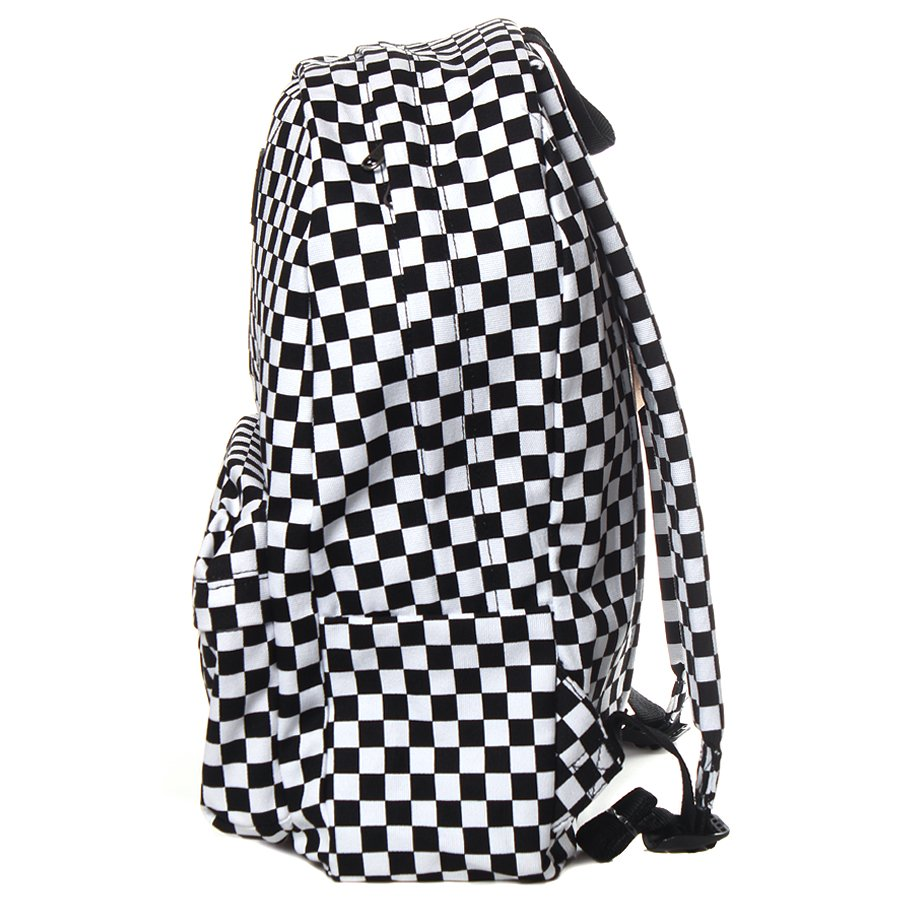7cc6798ac8be2 Mochila Vans Old Skool II Checkerboard Preto Branco - Rock City