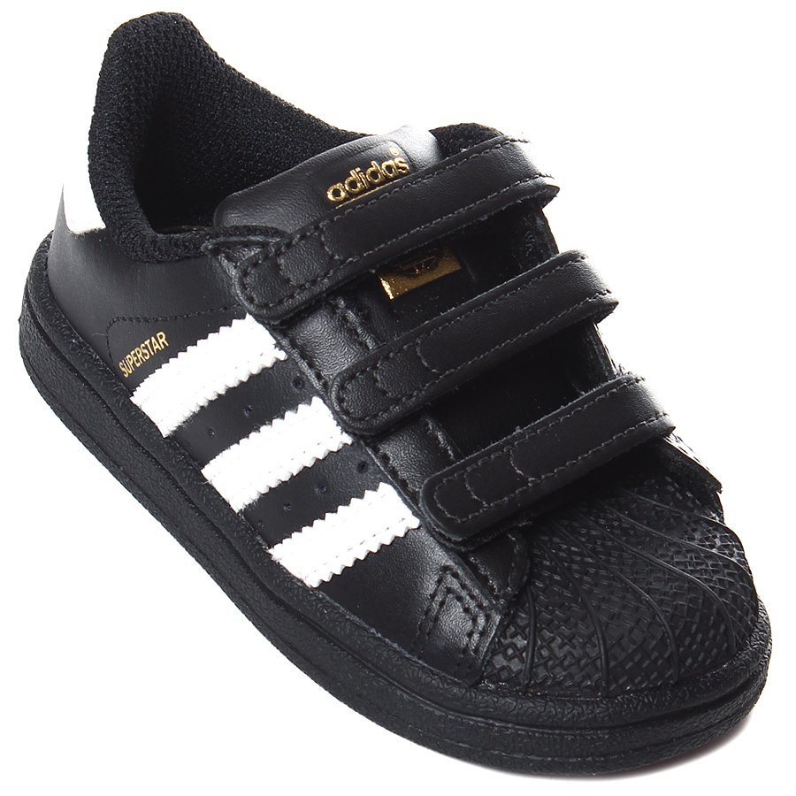 cfa83a704 Tênis Adidas Superstar Infantil CF Preto Branco - Rock City