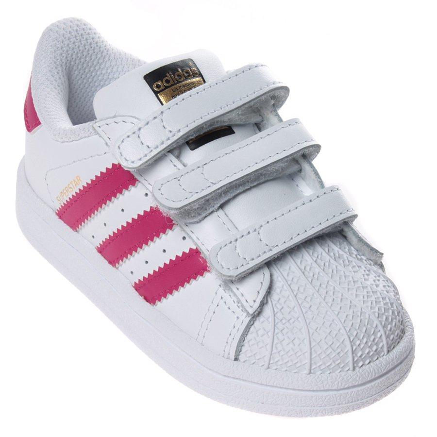 Negociar infierno retorta  Tênis Adidas Superstar CF Infantil Branco/Rosa - Rock City