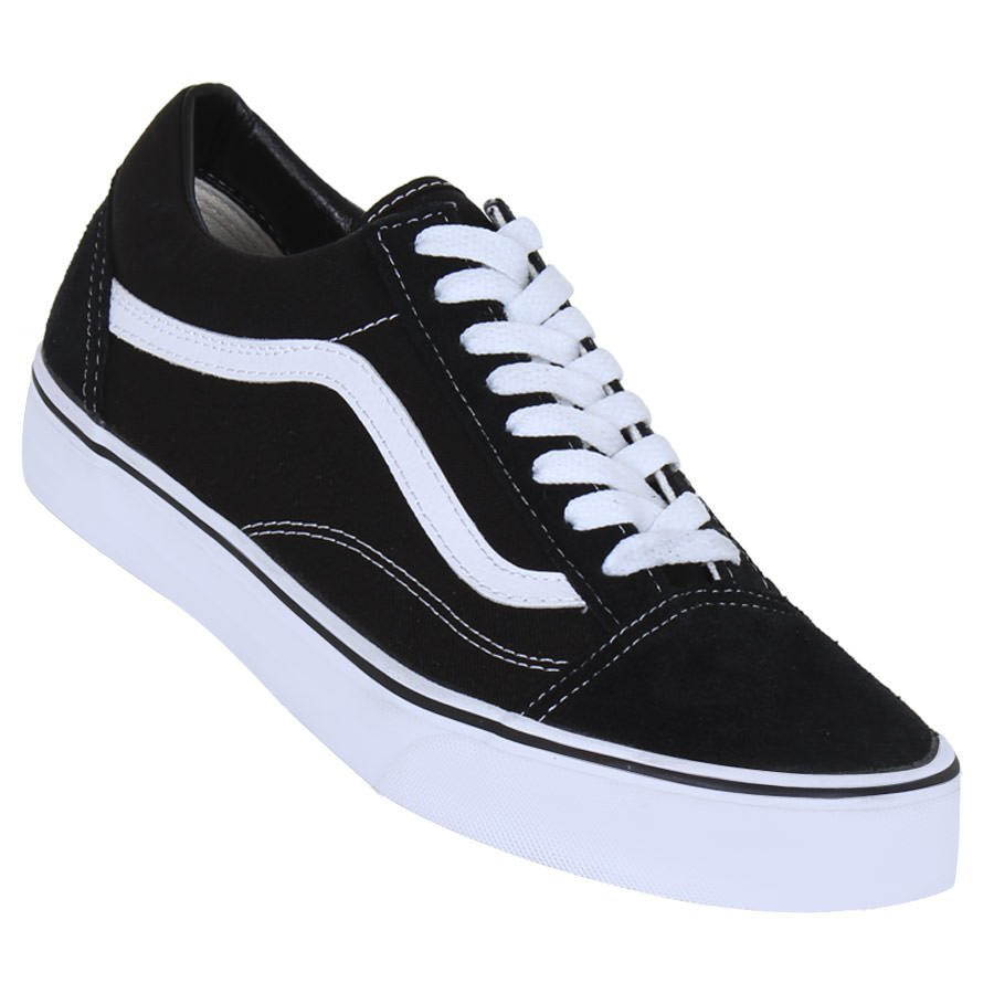 31d2415f833e7 T nis Vans Old Skool Preto Branco - Rock City. vans tenis