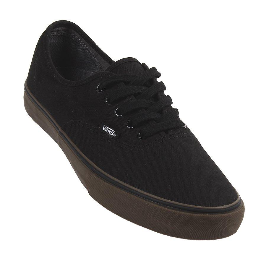vans authentic preto e marrom