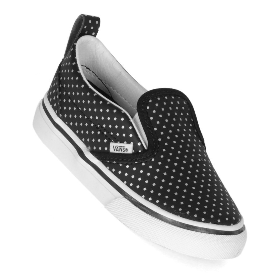 c507127b15c Tenis Vans Slip-On Infantil V Preto Branco - Rock City