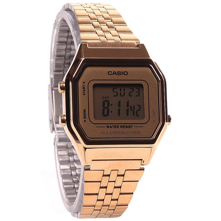 a5071947c90 Relógio Casio Vintage LA680WGA-9DF Dourado Prata - Rock City