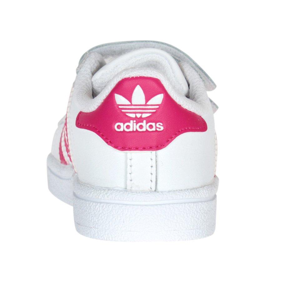 8536e7b02a8 Tenis Adidas Superstar Found Infantil CF Branco Rosa - Rock City