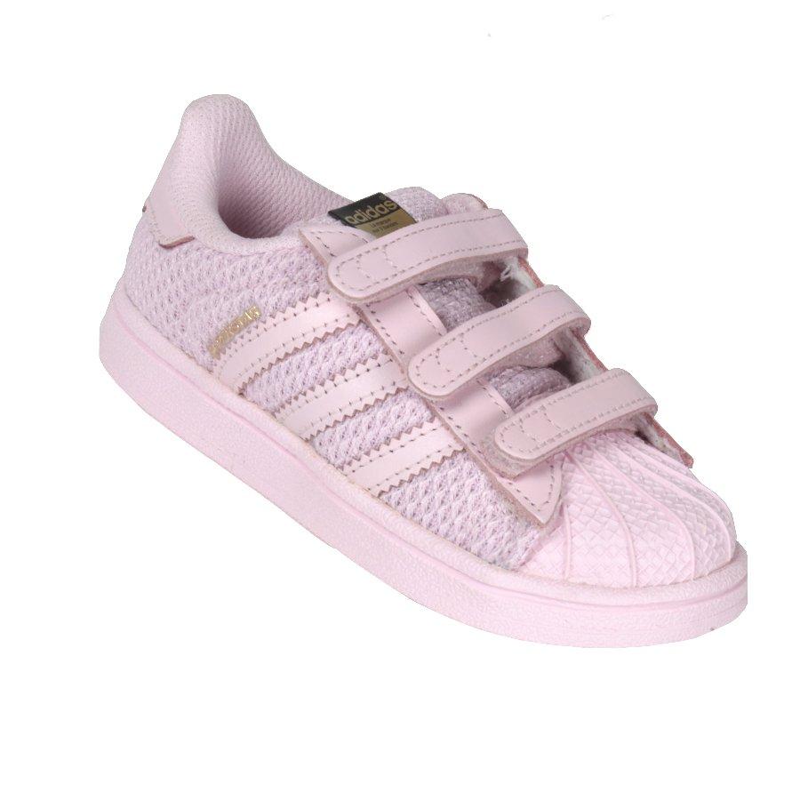 b166d662f Tenis Adidas Superstar Infantil CF Rosa - Rock City