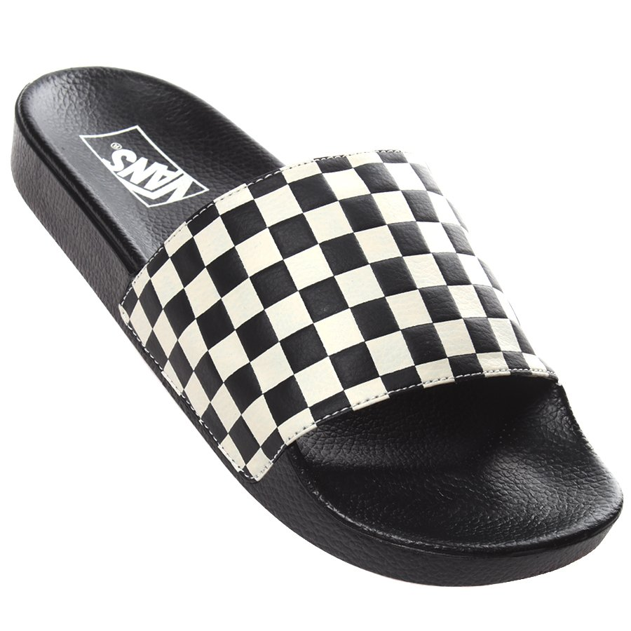 ae31df64f540c Chinelo Vans Slide-on Checkerboard Preto Branco - Rock City