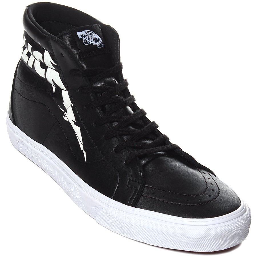 Tênis Vans Sk8-Hi Reissue Metallica Preto Branco - Rock City 171b5bfd27923