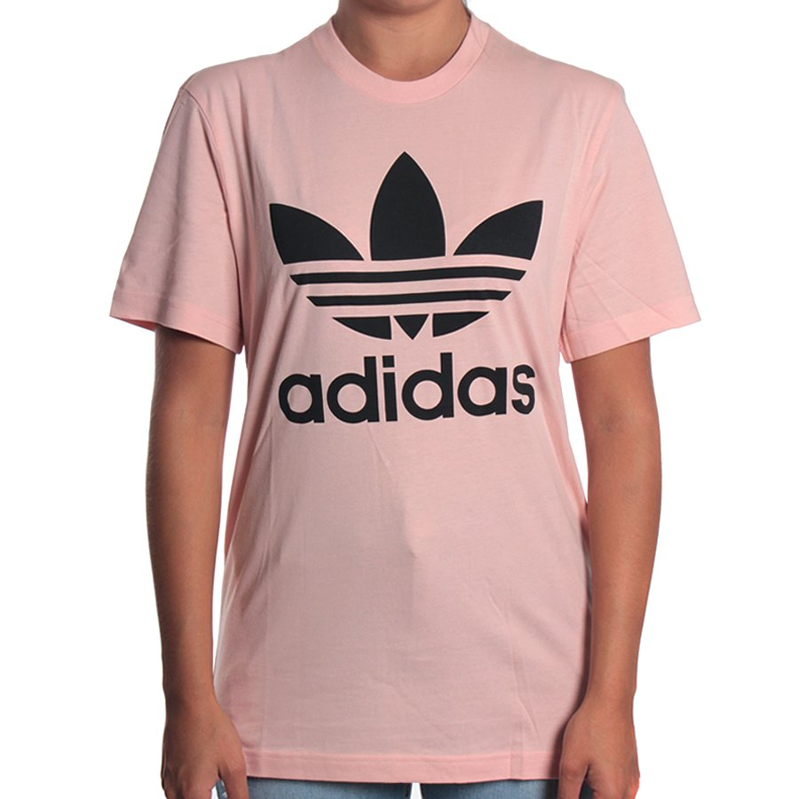 dc39566e017 Camiseta Adidas Original Trefoil Rosa - Rock City