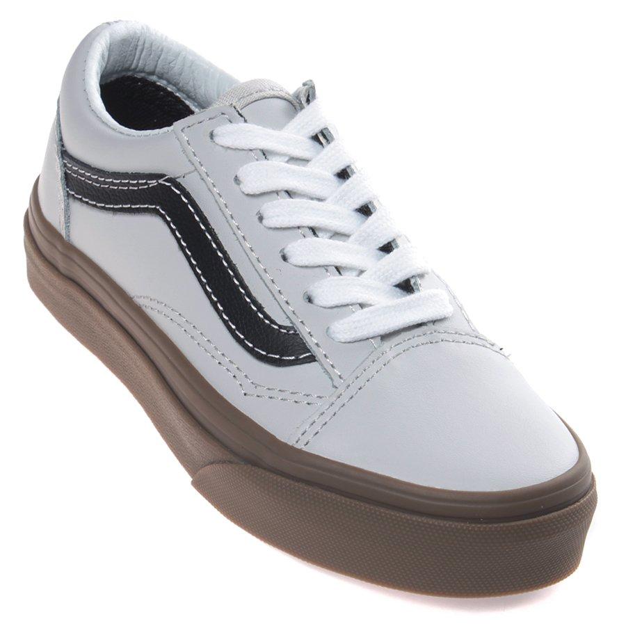 0a41cc4de08 Tênis Vans Old Skool Bleacher Juvenil Cinza Marrom - Rock City