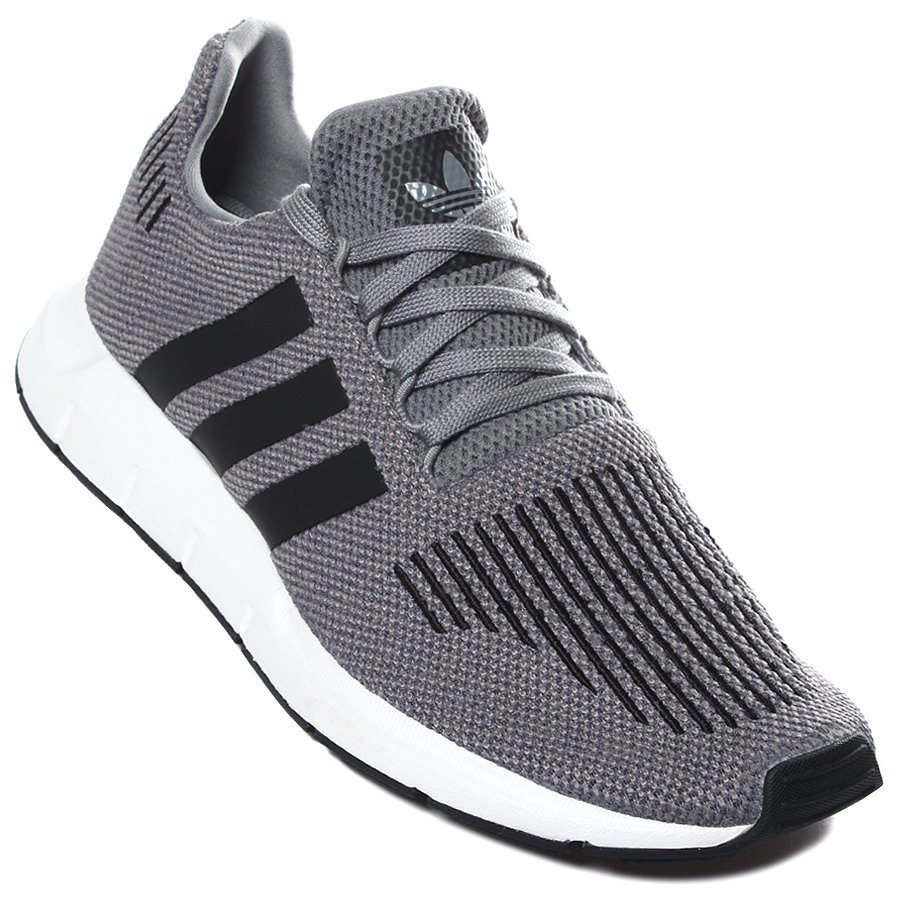 Tênis Adidas Swift Run Cinza Preto - Rock City 3a5e055be010d