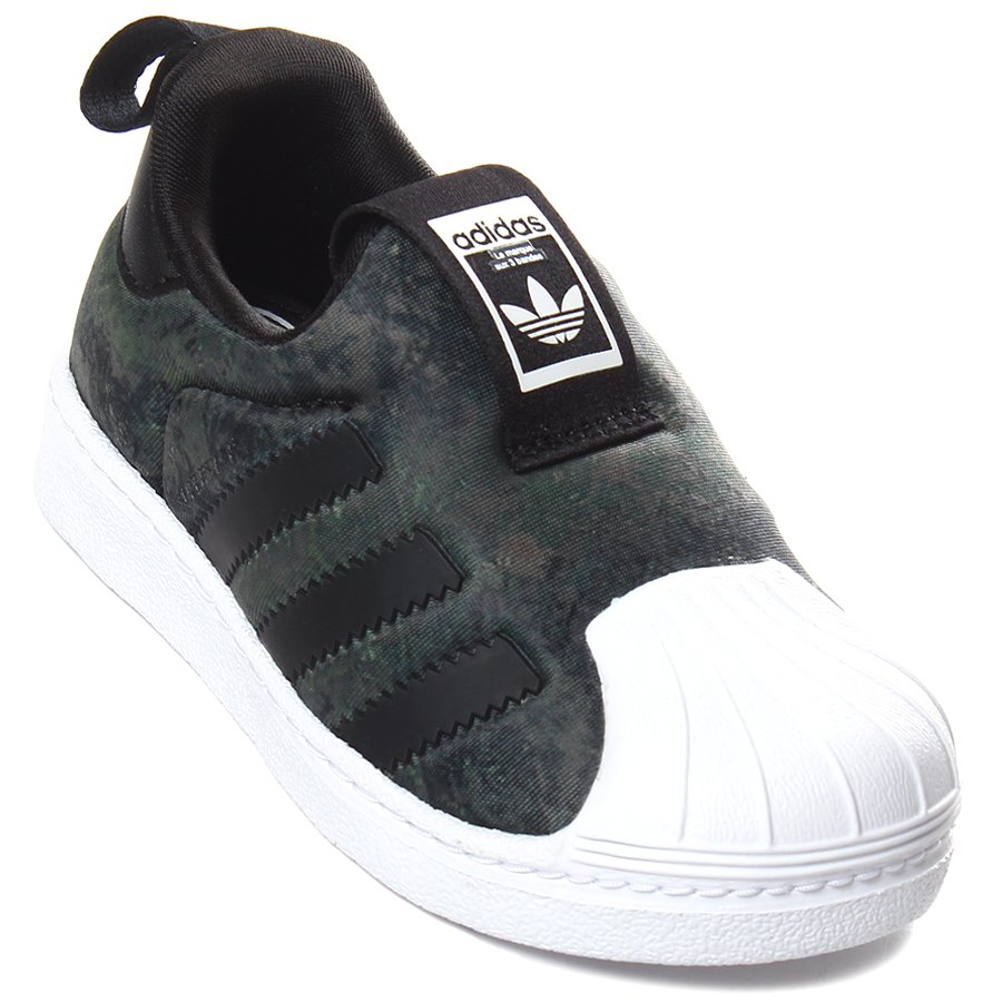 08f52375060 Tênis Adidas Superstar 360 Infantil Militar - Rock City