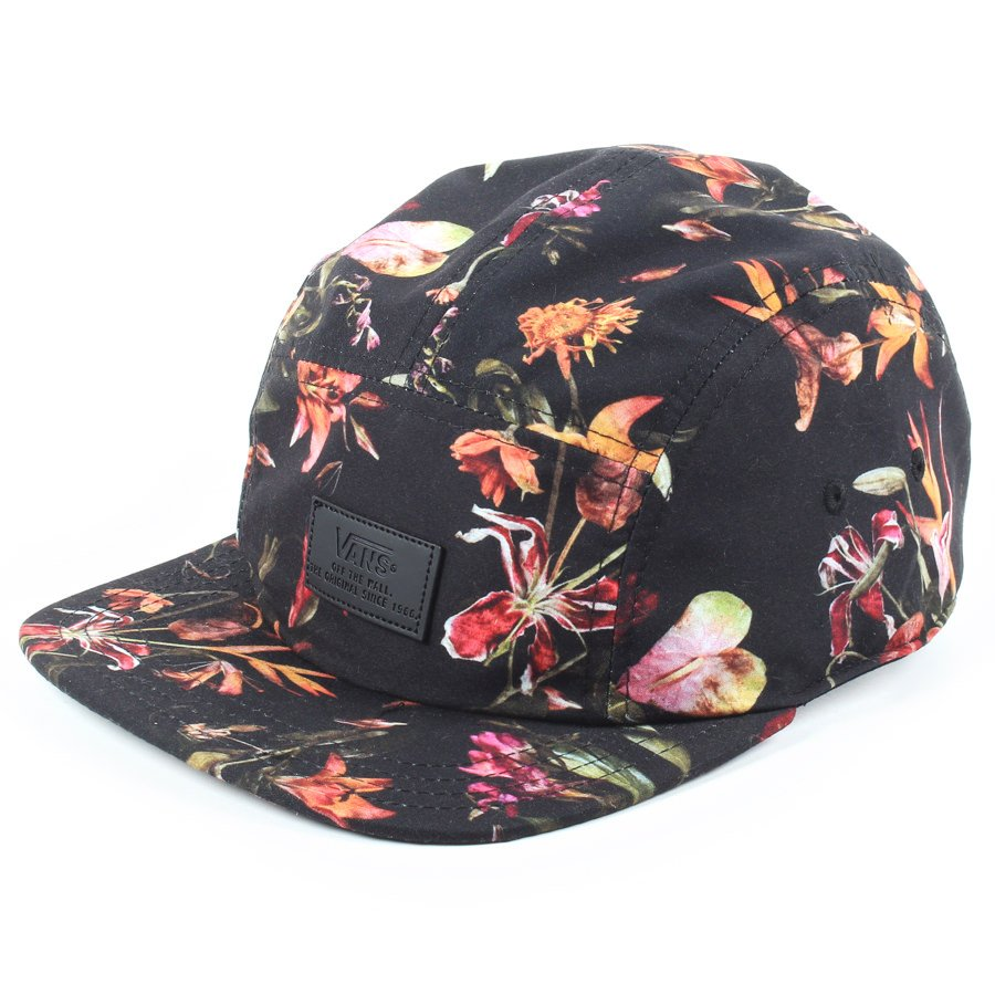 Bone Vans Davis 5 Panel Floral Preto - Rock City f9c4b11a966