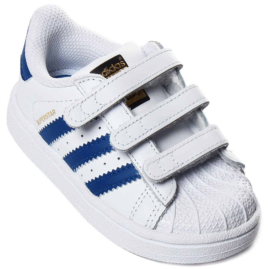 83ddcc16f Tênis Adidas Superstar Infantil CF Branco Azul - Rock City