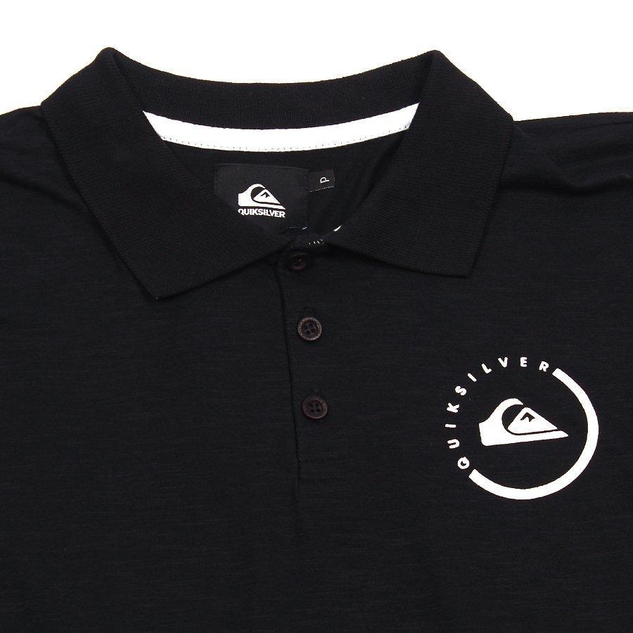 Camisa Polo Quiksilver Sinals Infantil Preto - Rock City bd0d1d26a9f