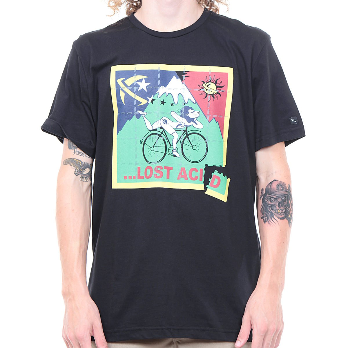 489337e09 Camiseta Lost Acid Preto - Rock City