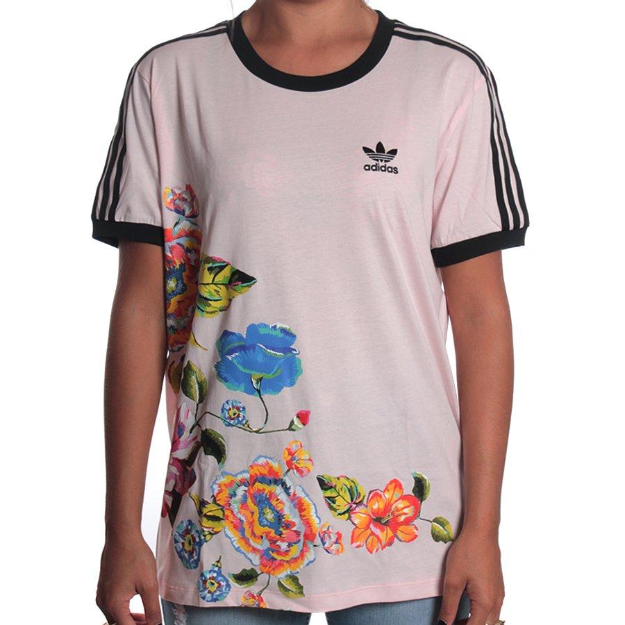 ed9efff6d9 Camiseta Adidas Farm Floral Rosa - Rock City