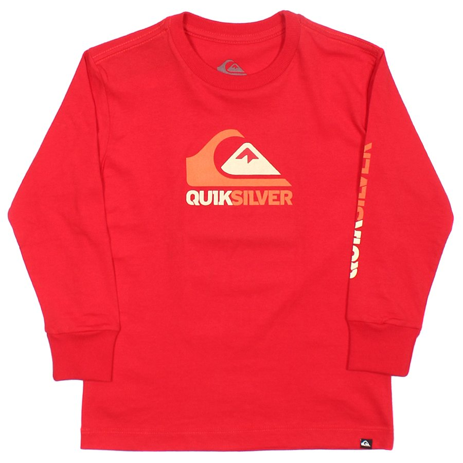 Camiseta Quiksilver Manga Longa Chevron Infantil Vermelho - Rock City 5c465cb8049