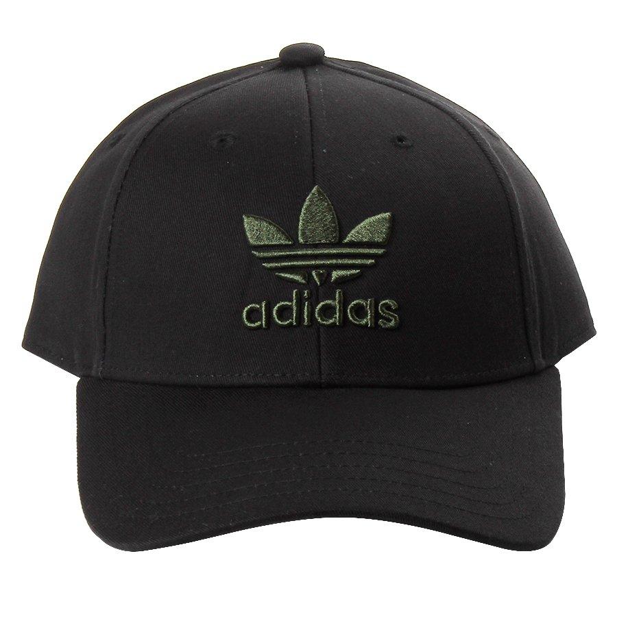 Boné Adidas Logo Trefoil Baseball Preto Verde - Rock City 56be6db3363