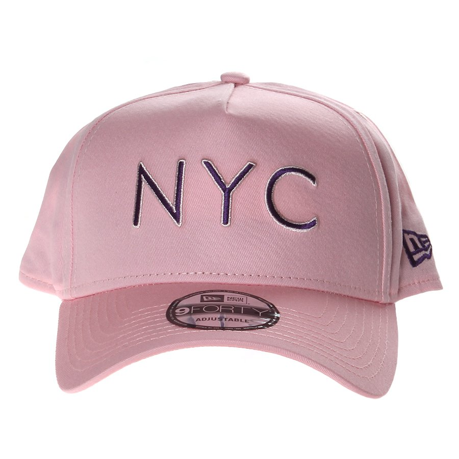 c7e50990e1a9b Boné New Era New York Aba Curva Rosa - Rock City