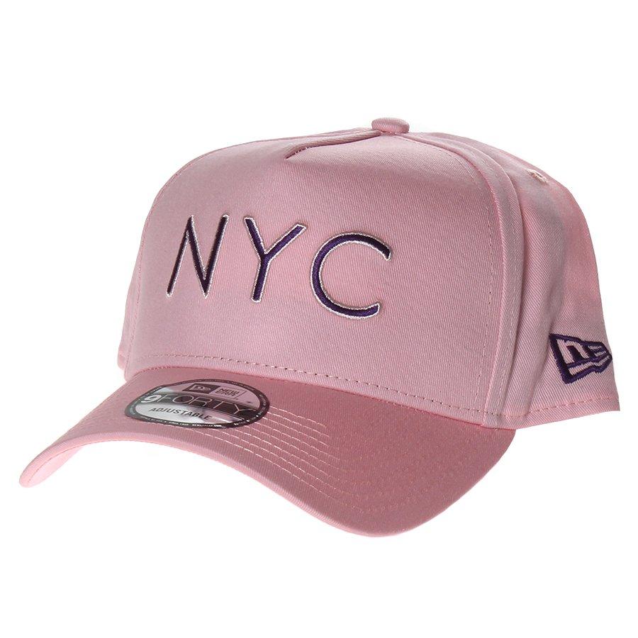 e99593314f164 Boné New Era New York Aba Curva Rosa - Rock City