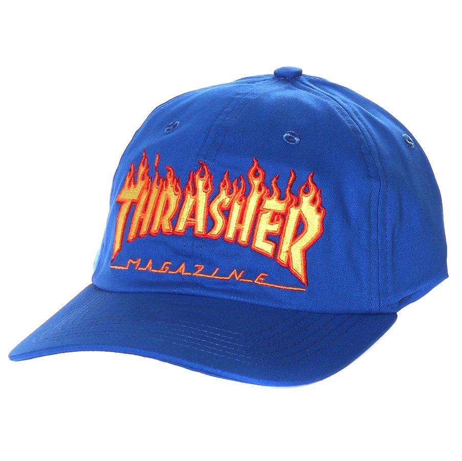 Boné Thrasher Magazine Dad Hat Logo Flame Azul - Rock City e25487b8a7e
