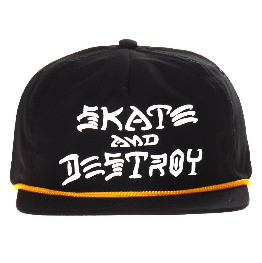 815d9b8684e7c Boné Thrasher Magazine Skate And Destroy Rope Preto/Branco - Rock City