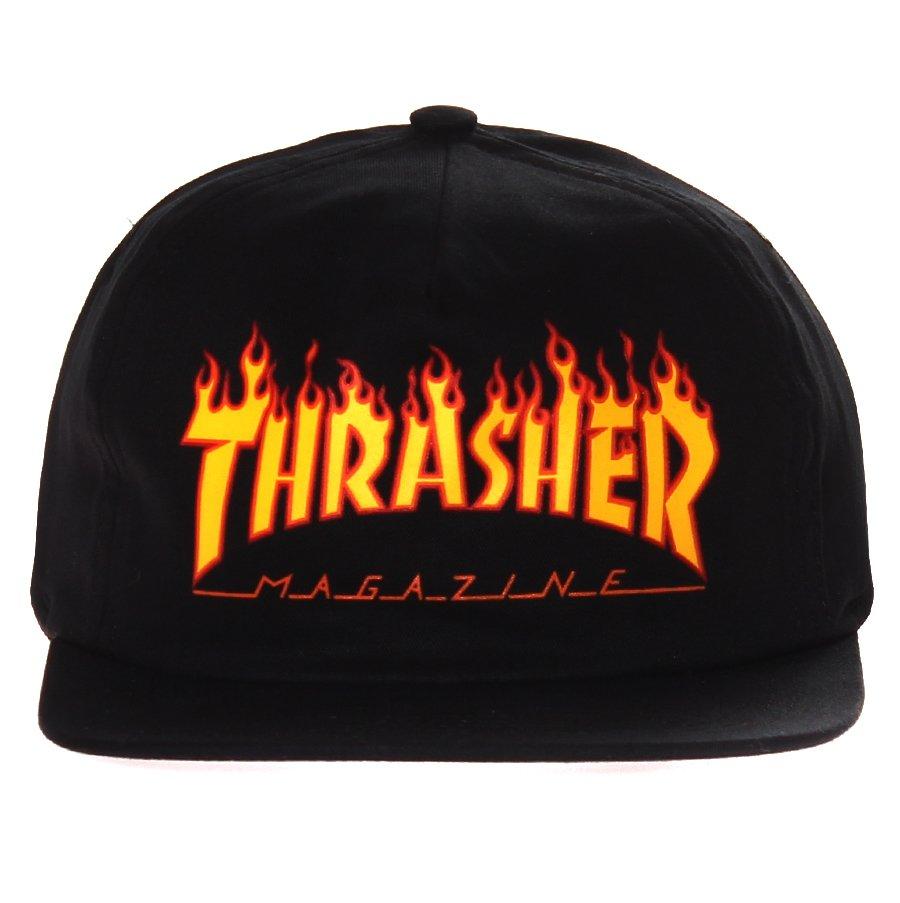 76a6a1868f Boné Thrasher Magazine SnapBack Logo Flame Preto Laranja - Rock City