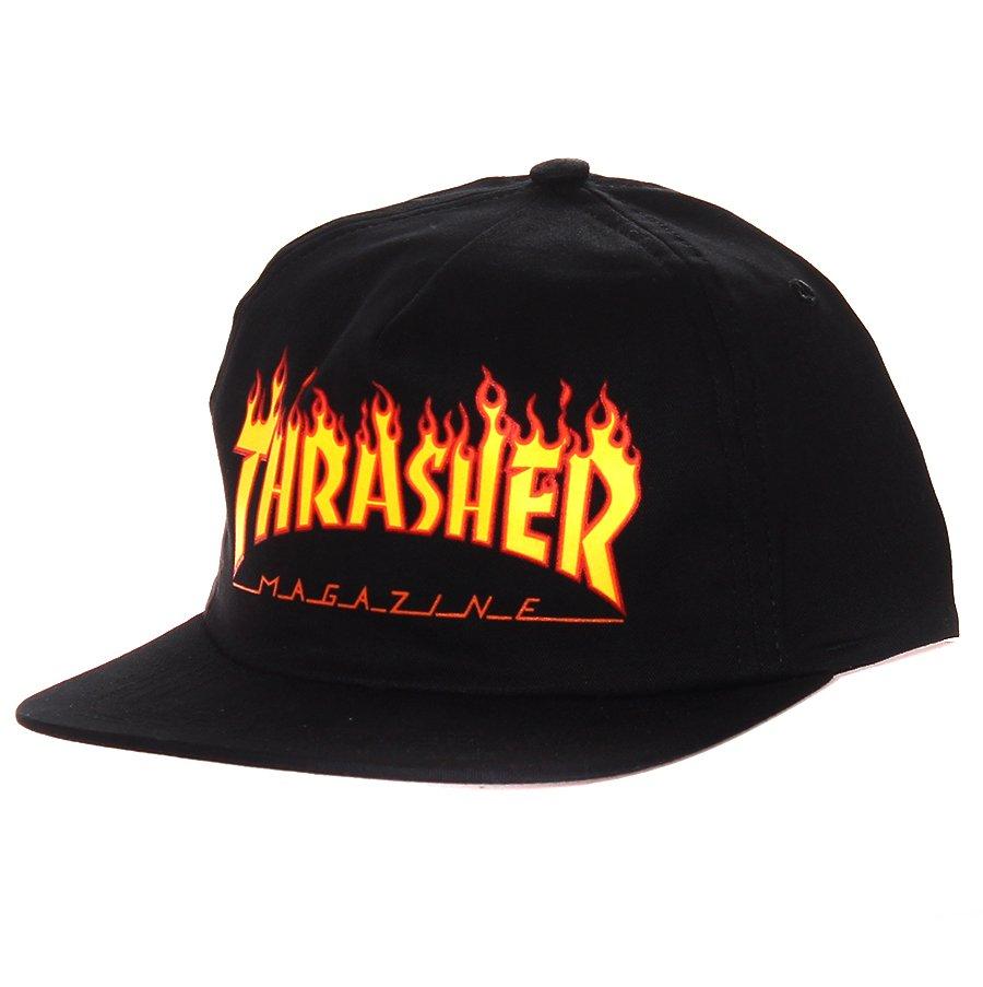 b5e60c6687016 Boné Thrasher Magazine SnapBack Logo Flame Preto Laranja - Rock City