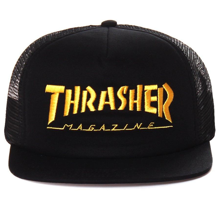 Boné Thrasher Magazine Trucker Mag Logo Preto Dourado - Rock City 51f0ac68be2