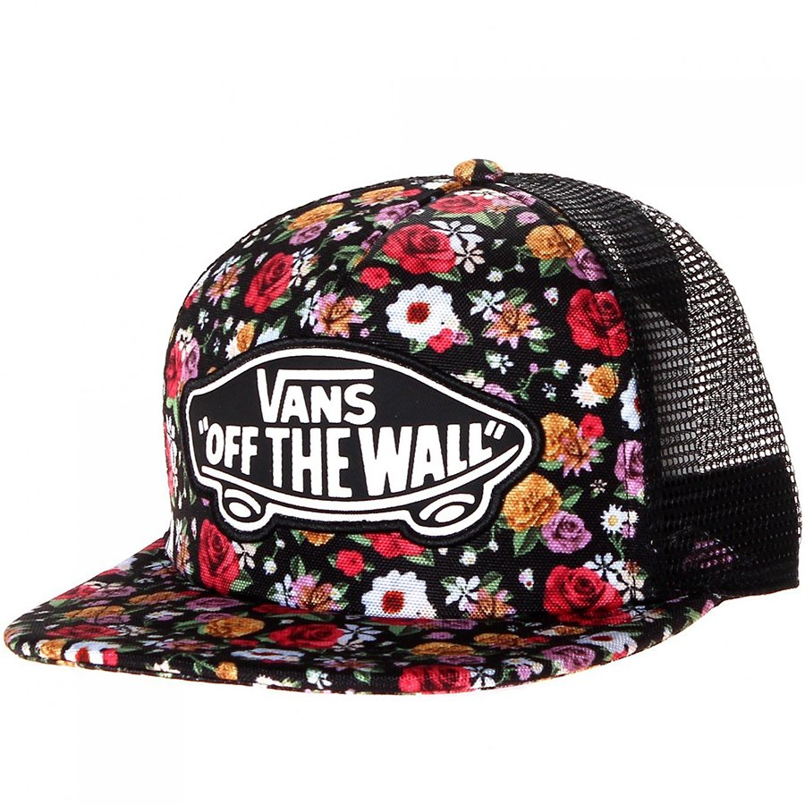Boné Vans Beach Girl Trucker Mix Flowers Preto Floral - Rock City 8db6d8290d5