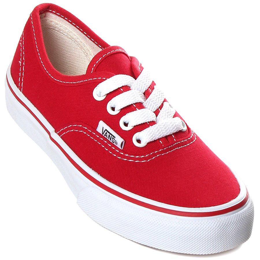 98e087ea73 Tênis Vans Authentic Juvenil Vermelho - Rock City