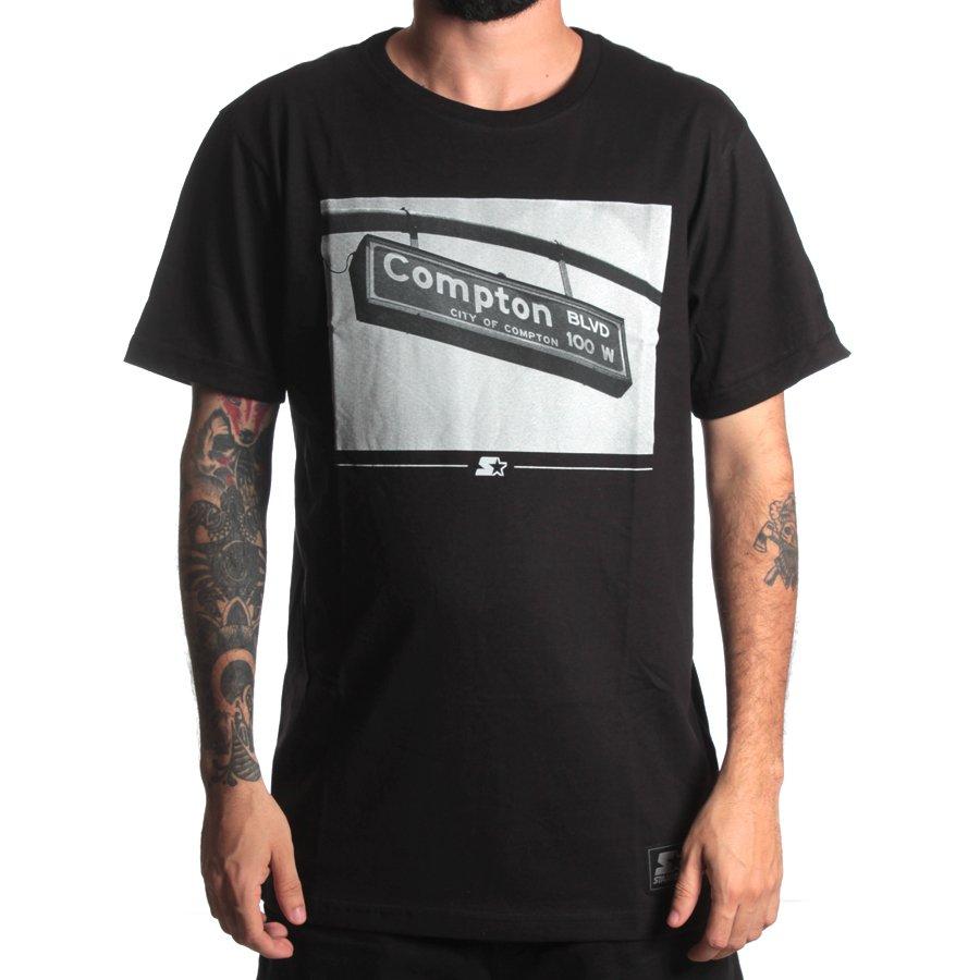 Camiseta Starter Compton BLVD Preto - Rock City 16f2e1338b6