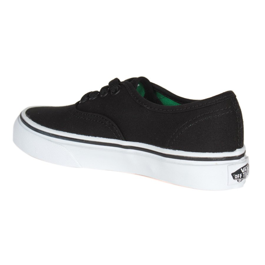 672ae4ba1cc Tenis Vans Authentic Infantil Preto Verde - Rock City