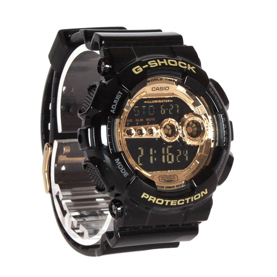 388cf396c21 Relogio Casio G-Shock Preto Dourado - Rock City