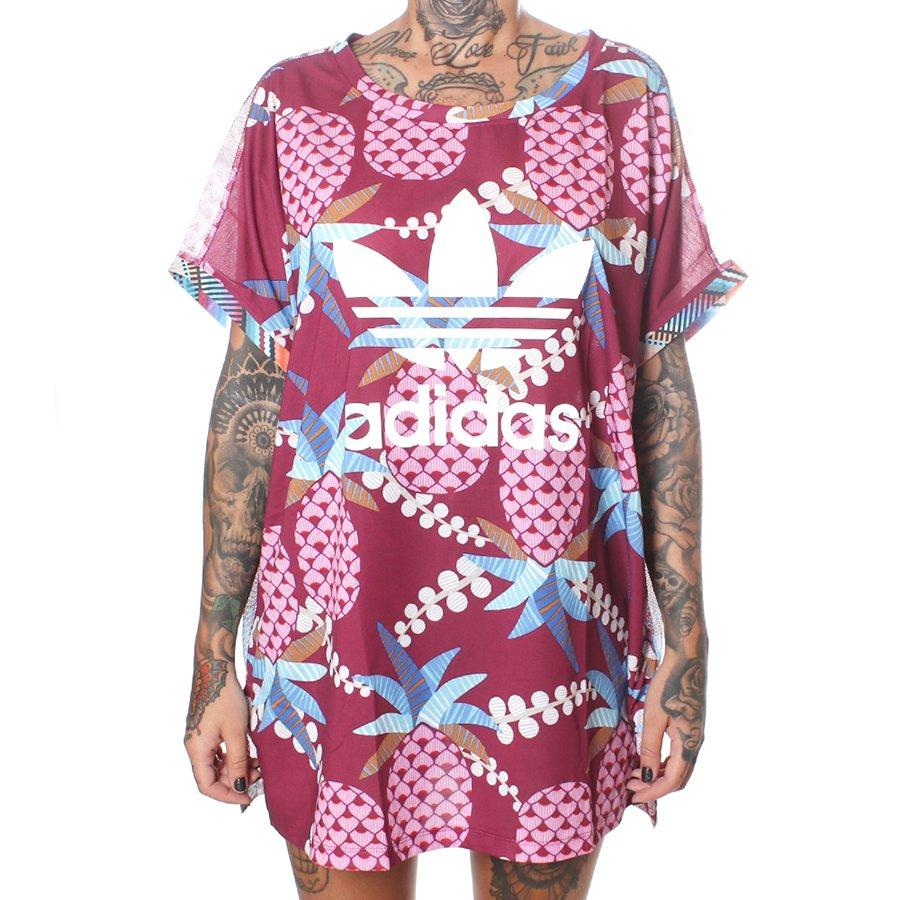 1fd6405602 Camiseta Adidas Farm Boxy Bordo - Rock City
