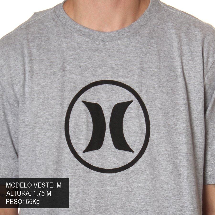 7d59e25fd5 Camiseta Hurley Circle Icon Mescla - Rock City