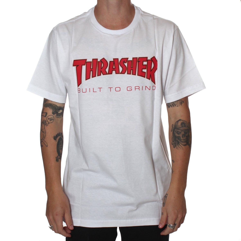 cf2cf3578b Camiseta Thrasher x Independent BTG Branco - Rock City