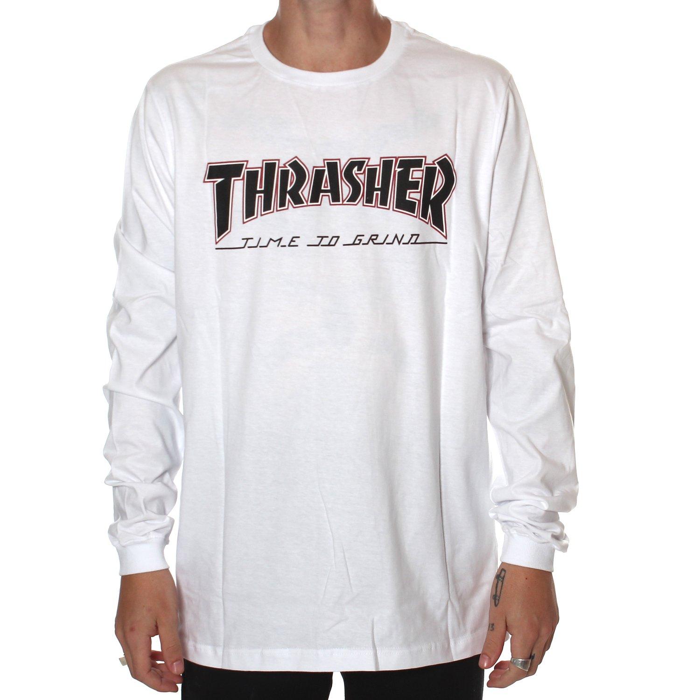 2366203a09 Camiseta Thrasher x Independent Manga Longa BTG Branco - Rock City