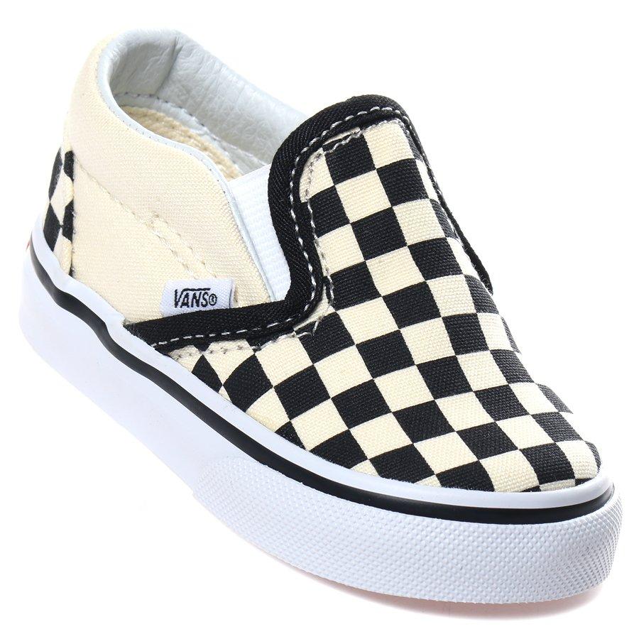 Tênis Vans Slip-On Infantil Creme Preto - Rock City b6151b010a0