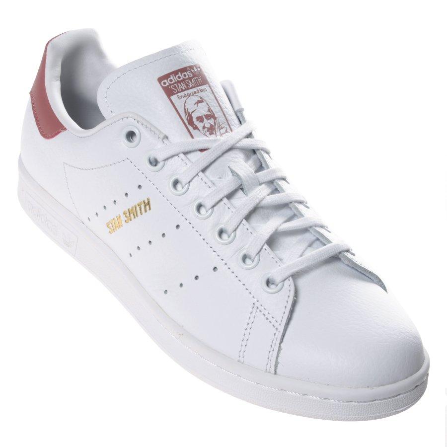 a80a36f568 Tênis Adidas Stan Smith Branco Rosa - Rock City