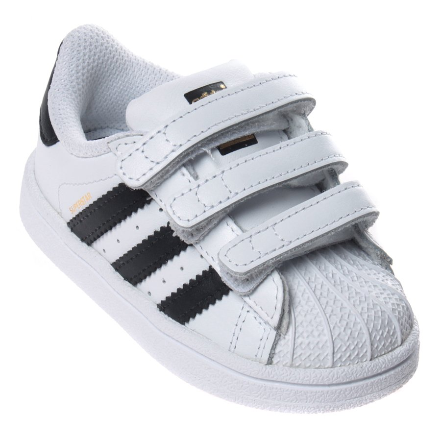 bbd9d253667 Tênis Adidas Superstar CF Infantil Branco Preto - Rock City