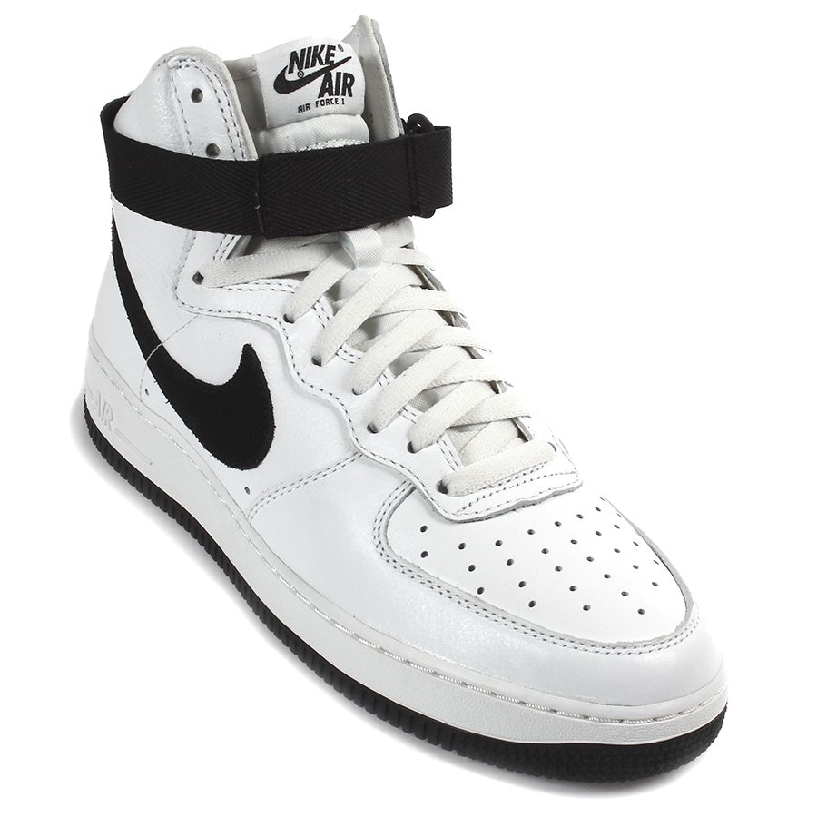 e84a25b21 Tênis Nike Air Force I Hi Retro Qs Branco/Preto - Rock City