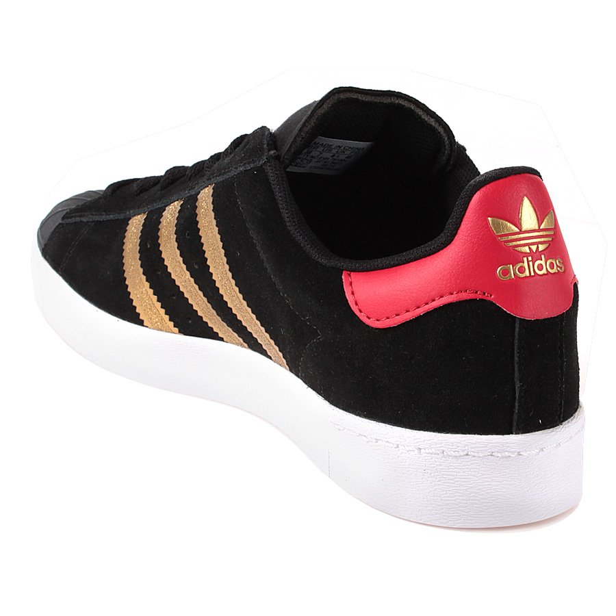 92993d73744 Tenis Adidas Superstar Adv Preto Dourado - Rock City