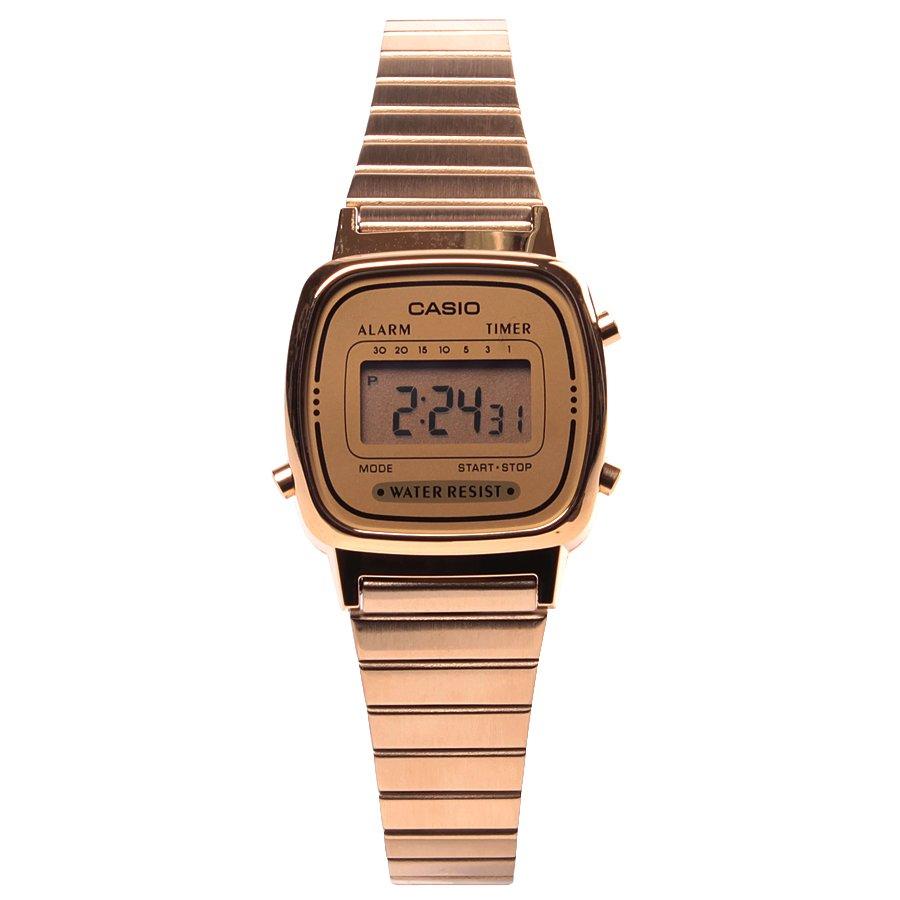 f88ee75bff2 Relógio Casio Vintage LA670-WGA-9DF Dourado Prata - Rock City