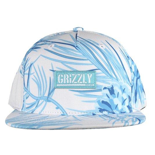 Bone Grizzly Summer Crop Branco/Azul Claro