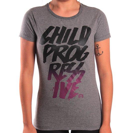 Camiseta Child Posca Chumbo Mescla