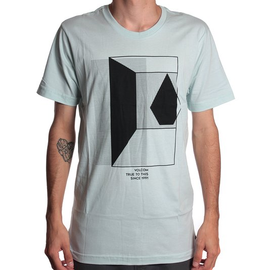 Camiseta Volcom Long Fit Inside Menta