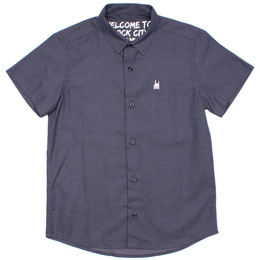 Camisa Rock city M/C Jeans Azul Marinho
